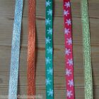 2 mt - Metalic & Satin Ribbon - Christmas - 9mm - Favours/Gifts/Tags/Cardmaking