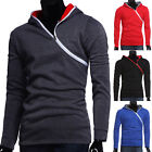 New Men's Sweater Slim Fit Long Sleeve Casual Hooded Hoodies Coat Jacket Outwear