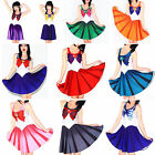 Sexy Sailor Moon Cosplay Costume Vest Mini Dress Skirt Stretchy Outfit Colors