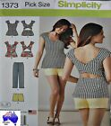Simplicity Sewing Pattern 1373 Ladies Crossover Bare Back Top Shorts Pick Size