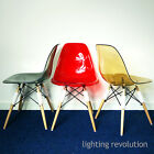 Ghost Style Eames inspired DSW Dining Chair Transparent Amber Red Smoke Designer segunda mano  Gran Bretaña