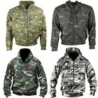 MENS ARMY HOODIE FULL ZIP JACKET CAMO FLEECE LINED HOODY DPM URBAN CAMOFLAUGE