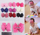 36/50/60/80/100pcs Baby Girl Grosgrain Ribbon bling hairbows with clips 2786-1-9