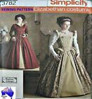 Free Post SIMPLICITY SEWING PATTERN 3782 Ladies Elizabethan Dress Costume 3782