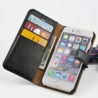 For Apple iPhone 6 6s 6+ 6s+ Genuine Leather Wallet Case Flip Cover fg