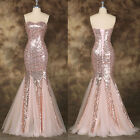 Sexy MERMAID Long Formal Evening Gown Bridesmaid Prom Dress Wedding Party Dress
