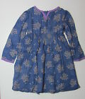 NEW MONSOON DRESS LONG SLEEVE BLUE  AGE 2 TO 9 YEARS
