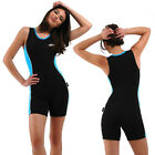 Ladies Swimwear One Piece Bathers Swimsuit Rash Suit Activewear Boyleg Sz 8-16