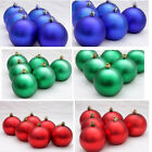 Matte 6pcs Christmas Balls Baubles Xmas Tree 8CM Hanging Ornament XMAS Decor
