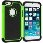 Apple iPhone 5 5S SE 6 6S Plus 7 Touch Hybrid silicone Hard Case Cover