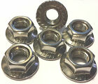M12 x 1.25 A2 Stainless Flange Nuts (packs of 6).  Multi Listing
