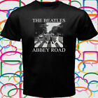 The Beatles Abbey road john Lennon paul McCartney Mens Black T-Shirt Size S-3XL