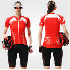 Women's Cycling Jacket Outdoor Sport Bike Bicycle Jersey Short Sleeve S M L XL