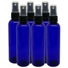 4 fl oz Cobalt Blue Glass Bottle w/ Black Spray Cap Free Ship Quantity Discounts