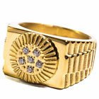 HIGH FASHION RING - STAINLESS STEEL 18K GOLD PLATED