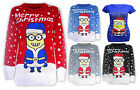 Ladies Men Womens Unisex New Christmas Xmas Minion Knitted Sweater Top Jumper Ts