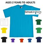 Zeco Boys Girls Plain T-Shirts.School Uniform,Gym,P.E. Ages 2/3 -13 yrs, S M L