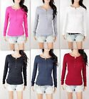 NWT Hollister By Abercrombie Women's girl's Top Long Sleeve Lace Henley Shirt