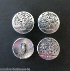 5 - Novelty Buttons - Tree of Life - Metal - Shank Buttons Knitting/Sewing
