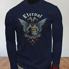 UFC MMA Victory Power Eternal Knight Armor Wings Mens Navy Long Sleeve T-Shirt $18.99 USD on eBay