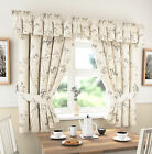 Kitchen Curtains Slate Grey Libby includes Tie Backs (pelmet sold separate)
