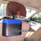 "7"" Car Auto Trash Can Box Drinking Organizer/Seat Back Hanger Window Clip Mount"