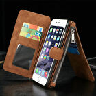 New Genuine Leather REMOVABLE Detachable Wallet Card Case Cover For Cell Phones