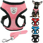 Soft Air Mesh Puppy Dog Cat Harness Vest For Small Medium Breeds Pink Blue S M L