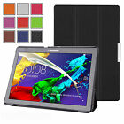 SMART THIN LEATHER CASE COVER, SCREEN PROTECTOR & STYLUS FOR LENOVO TAB 2 A10-70