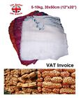 100 x Net Woven Sacks Vegetables Logs Wood Log Mesh Bags 30x50 cm 5-10kg