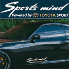Sports mind powered by TOYOTA SPORT #8 Decals Stickers Graphics Tacome Matrix I
