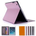 Smart Stand Magnetic Leather Case Cover For APPLE iPad 4 3 2 Mini Air CARD