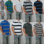 NWT Tommy Hilfiger Men Logo Short Sleeve Striped Polo Classic Custom Fit