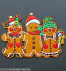 Iron on Patch - Gingerbread Family - Christmas - Advents Calender - Applique