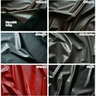 "SEMI-GLOSS FAUX LEATHER LIKE VINYL LAMB PLEATHER SOFT STRETCH GOTHIC FETLSH 54""W"