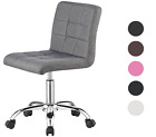 'Modern Office Chair Computer Desk Small Adjustable Pu Leather Swivel Fabric Home