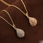 Lady Gold/Silver Plated Crystal Chain Charm Pendant Statement Necklace Jewelry image