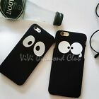 Fashion THE BLACK Big Eyes TPU Couple Cover Case For Apple iPhone 5 5s 6s 6 plus