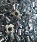 M6 And M8 Pronged Nut Tee DIN1624 10 or 100 pcs