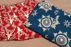 Cacique Holiday Cotton Pajama Pants Lane Bryant Red Reindeer Teal Ornaments New