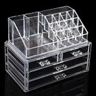 Acrylic Clear Make Up Organiser Cosmetic Display Jewellery Drawers Storage Case