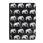 """Grey Marble Elephants Animals Universal Tablet 9-10.1"""" Leather Flip Case Cover"""
