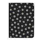 """Daisies Black Flowers Floral Universal 9-10.1"""" Leather Flip Case Cover"""