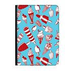 """Ice Lollies Lolly Cream Funny Sweets Universal 7"""" Leather Flip Case Cover"""