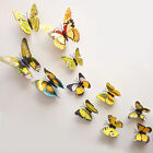 12pcs 3D Butterfly Sticker Art Design Decal Wall Home Decor Room Decorations SE