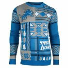 Detroit Lions Patches Ugly Sweater Christmas NFL Crew Neck NEW FREE SHIP $44.95 USD on eBay