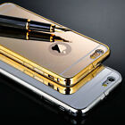 Luxury Aluminum Mirror Metal Hard Case Cover for Samsung iPhone Models