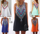 AU SELLER Sexy Womens Summer Casual A-Line Mini Dress Beach Cover Up dr001