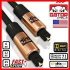 Toslink Cable Fiber Optic Digital Audio Optical SPDIF Cord Dolby DTS Gator Cable