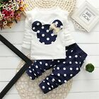 Mickey Baby clothes kids girls  tops+pants Set Outfits autumn clothing dot A88